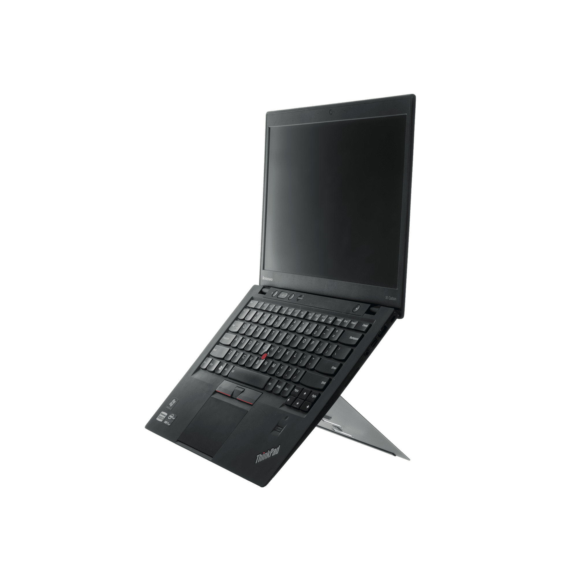R-Go Riser Attachable Laptopständer, verstellbar, schwarz